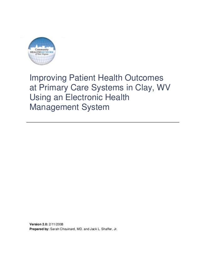 Improving Patient Health Outcomes with an EHR whitepaper