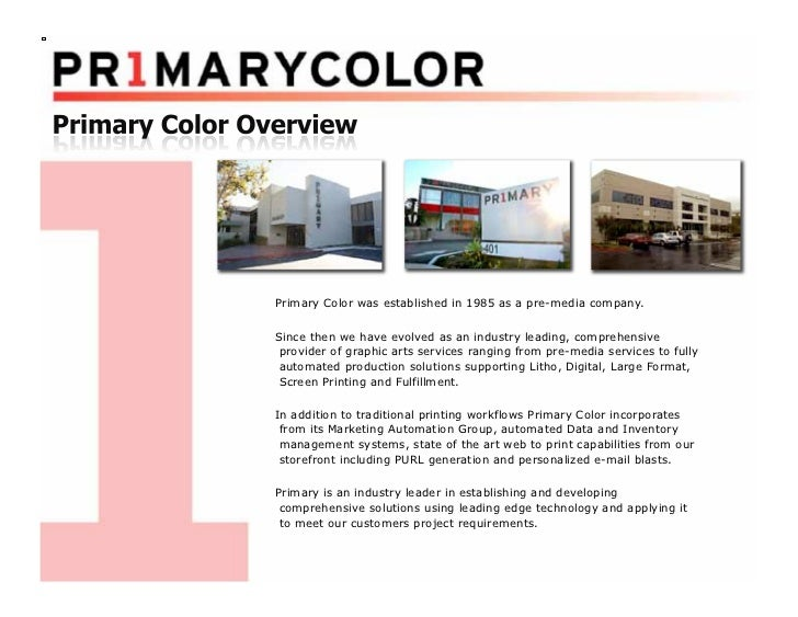 Primary Color was established in 1985 as a pre-media company.Since then we have evolved as an industry leading, comprehens...