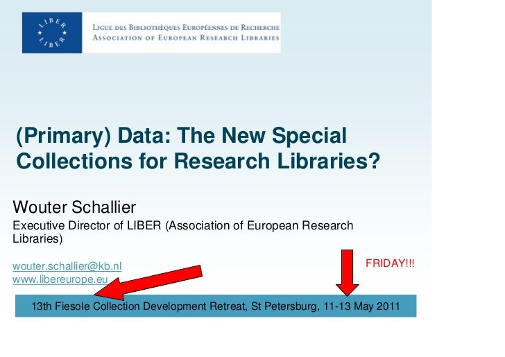 (Primary) Data: The New Special Collections for Research Libraries?