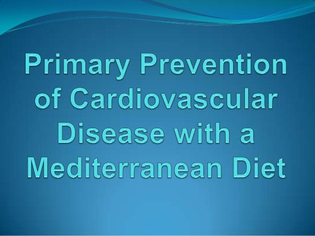 Primary prevention of cardiovascular