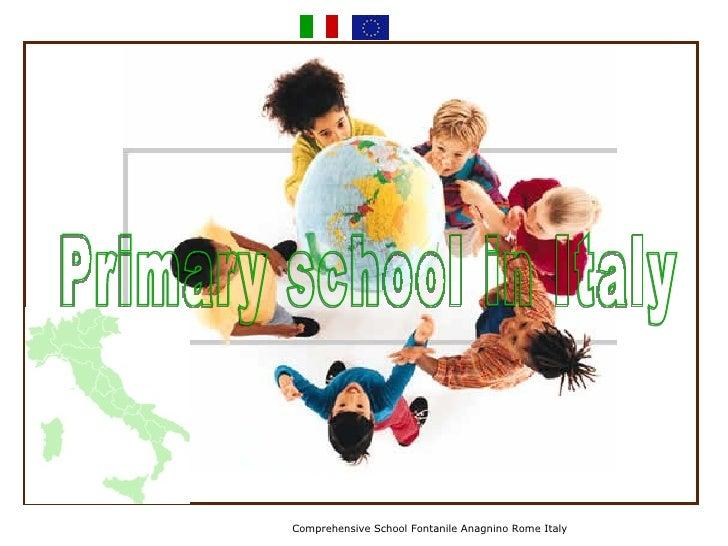 Comprehensive School Fontanile Anagnino Rome Italy Primary school in Italy