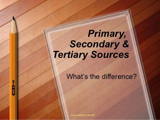 Primary secondarytertiary