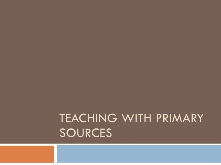 Convocation - Teaching with Primary Sources