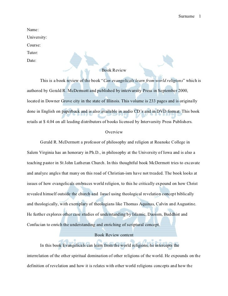 Book review sample essay
