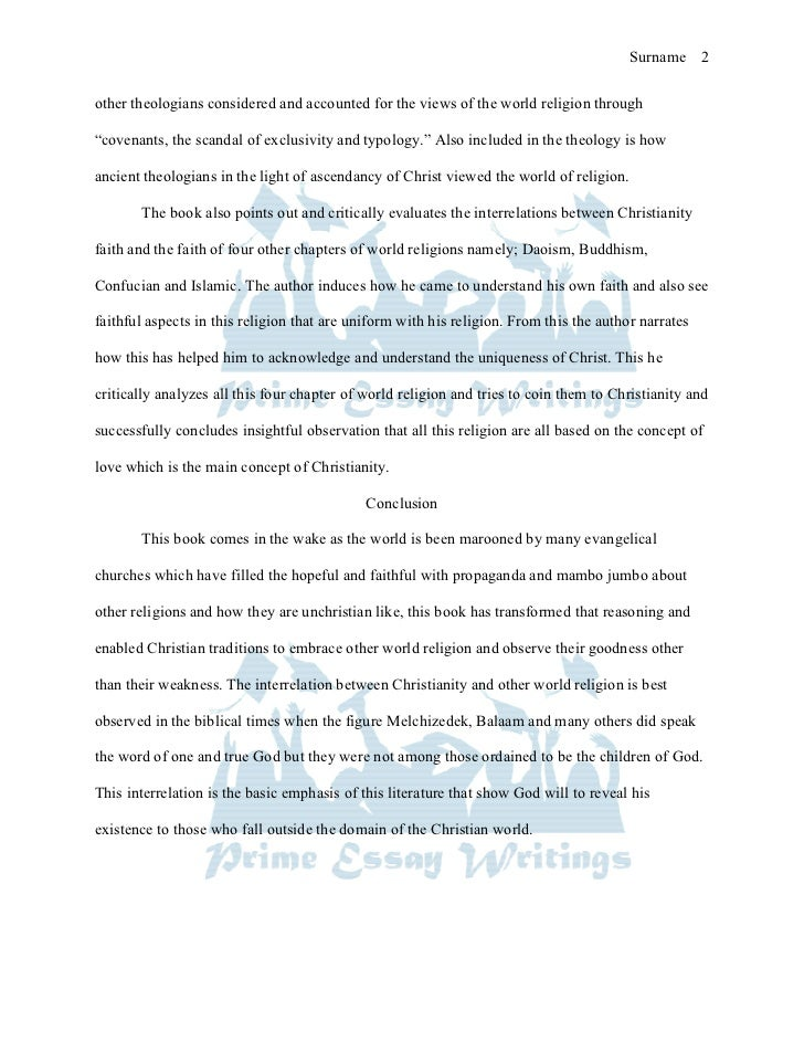 Essay about world religion