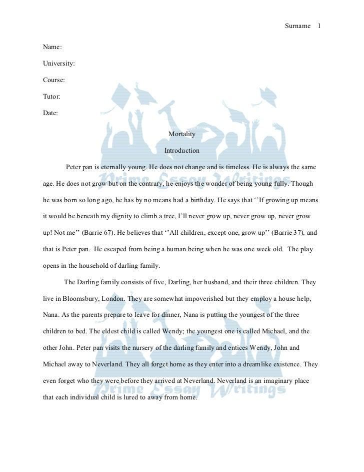 Prime essay writings mortality essay sample