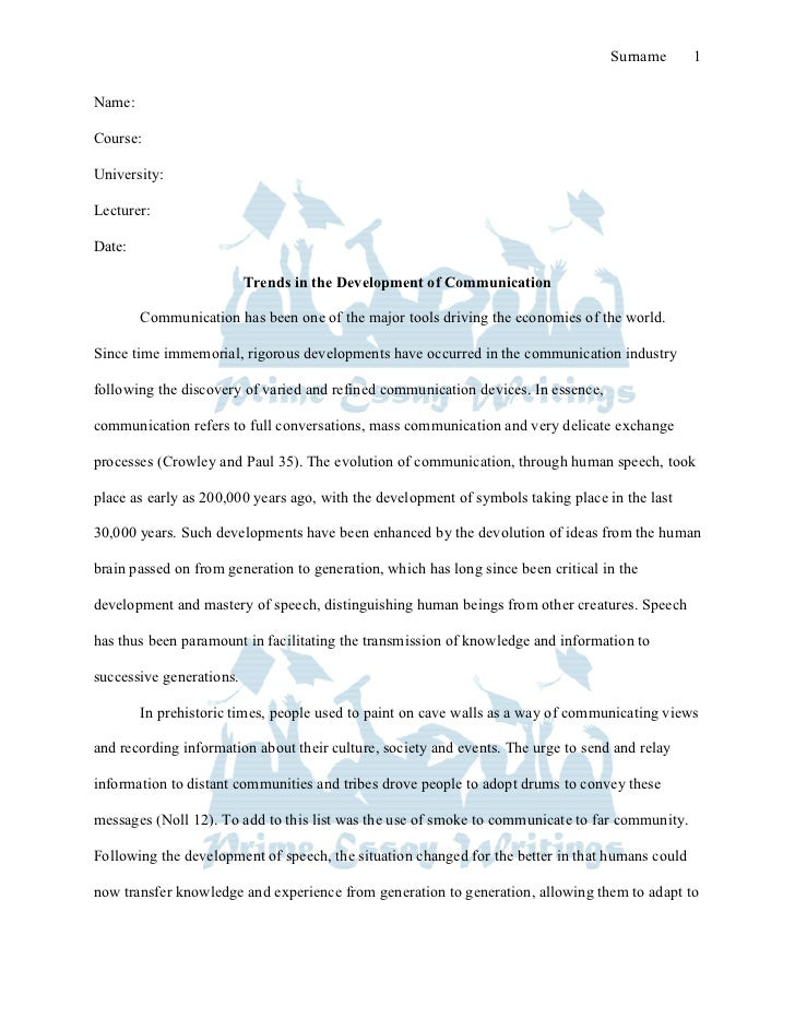 Essay for communication