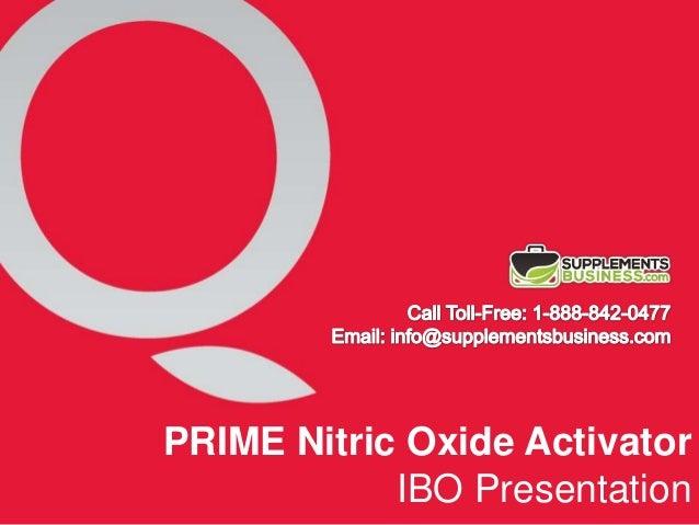 Qivana PRIME - Nitric Oxide Activator IBO Presentation.
