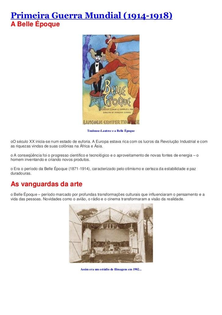 "HYPERLINK ""http://profalberto-historia.blogspot.com/2010/09/primeira-guerra-mundial-1914-1918.html"" Primeira Guerra Mundi..."