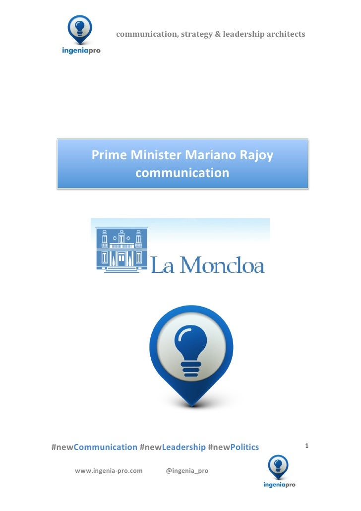 Spain Prime Minister Mariano Rajoy 360 Communication