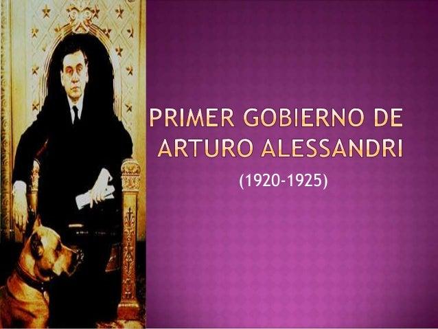 Primer gobierno-de-arturo-alessandri