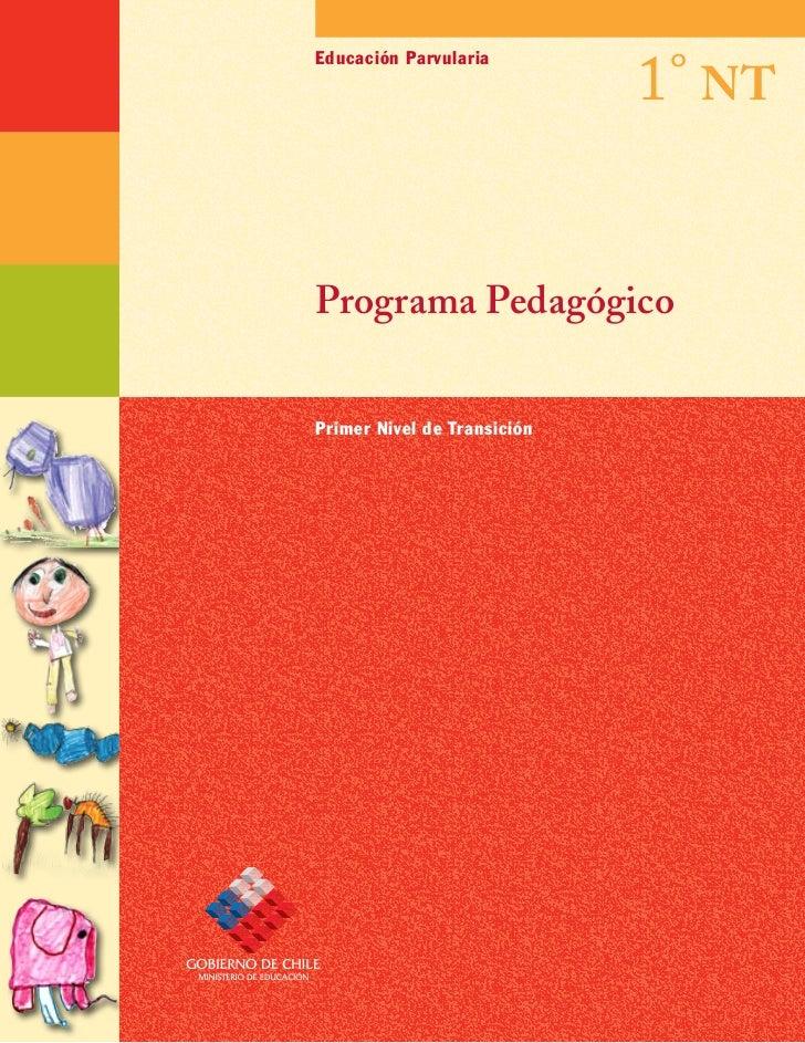 1° NT Educación Parvularia     Programa Pedagógico   Primer Nivel de Transición
