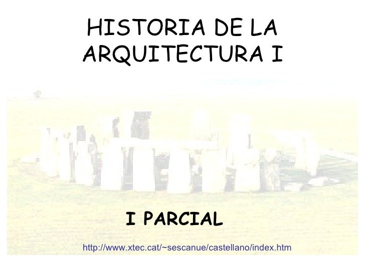 Primer Parcial Hist.de la Arq. I