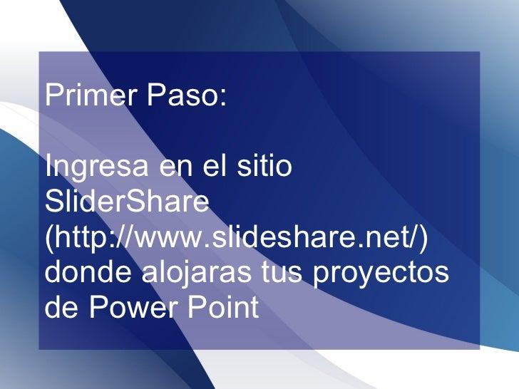 Como Poner una Presentacion Power Point en tu Blog