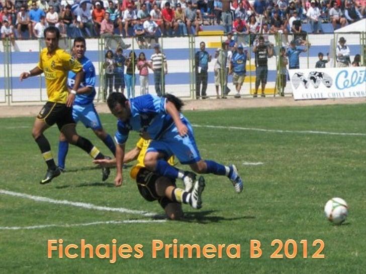 Primera b 2012