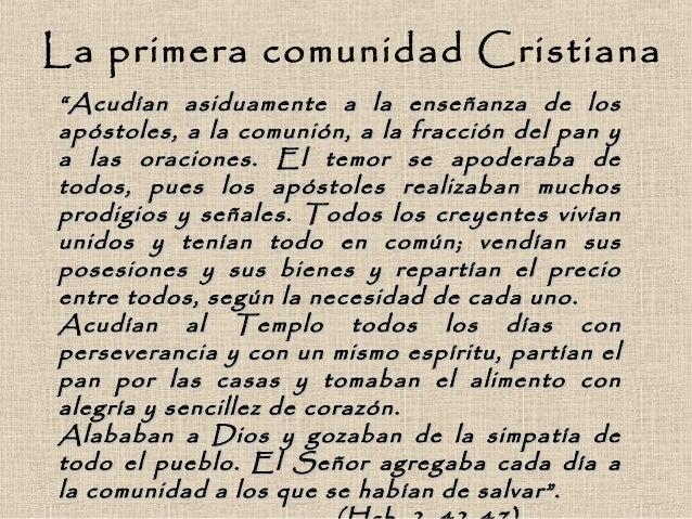 Primera comunidad cristiana
