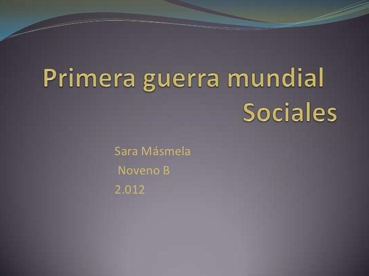 Sara MásmelaNoveno B2.012