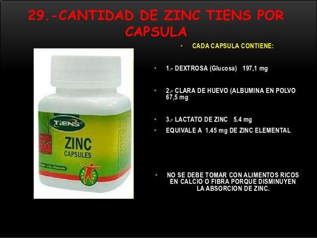 BENEFICIOS DE ZINC DE TIENS