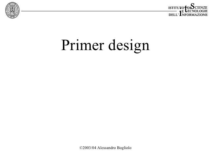 Primer design2