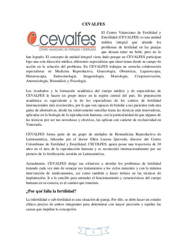 CEVALFES                                                   El Centro Valenciano de Fertilidad y                           ...