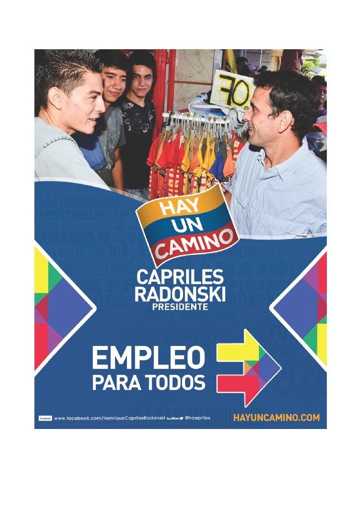 Plan Primer Empleo    ESTABILIDAD Y NUEVAS OPORTUNIDADES DE PROGRESAR    En Venezuela…    Los jóvenes son el grupo más afe...