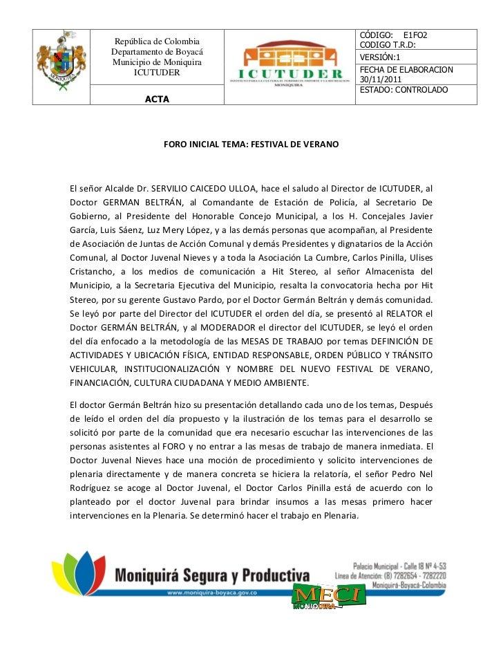 CÓDIGO: E1FO2          República de Colombia                                        CODIGO T.R.D:          Departamento de...