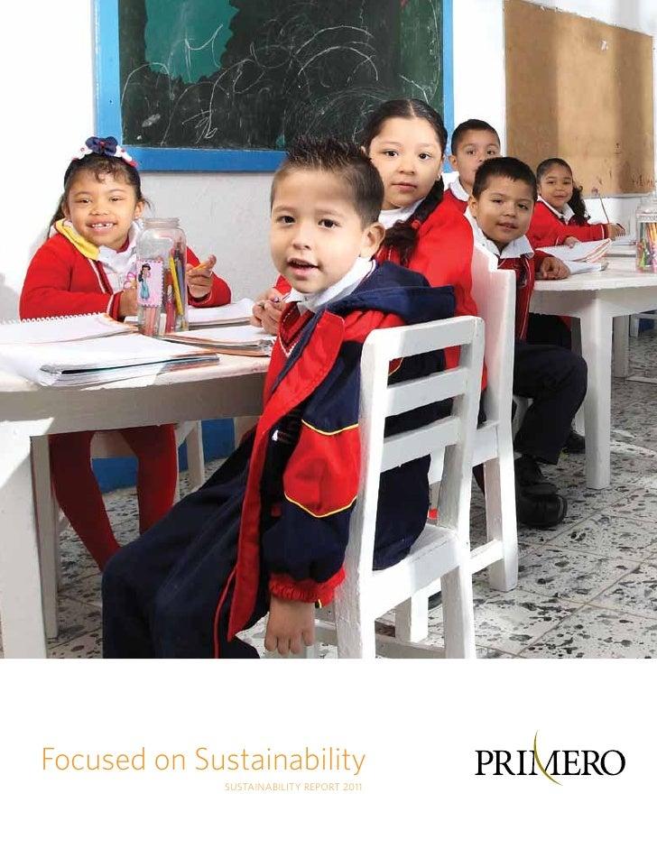 Focused on Sustainability              Sustainability Report 2011