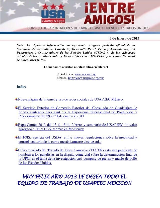 3 de Enero de 2013                                                                       2012Agosto de 2012Nota: La siguie...