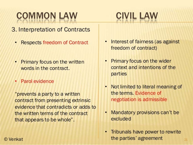contract and common law position There are two sources of contract law: common law, which is based on case rulings, and statutory law, which is based on federal and state statutes.