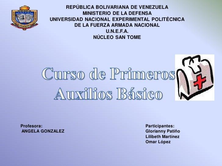 REPÚBLICA BOLIVARIANA DE VENEZUELA                     MINISTERIO DE LA DEFENSA         UNIVERSIDAD NACIONAL EXPERIMENTAL ...
