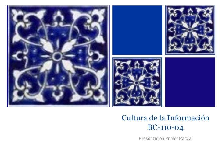 Cultura de la InformaciónBC-110-04<br />Presentación Primer Parcial<br />