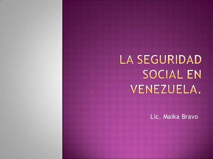 Seguridad Social para el Adulto Mayor venezolano