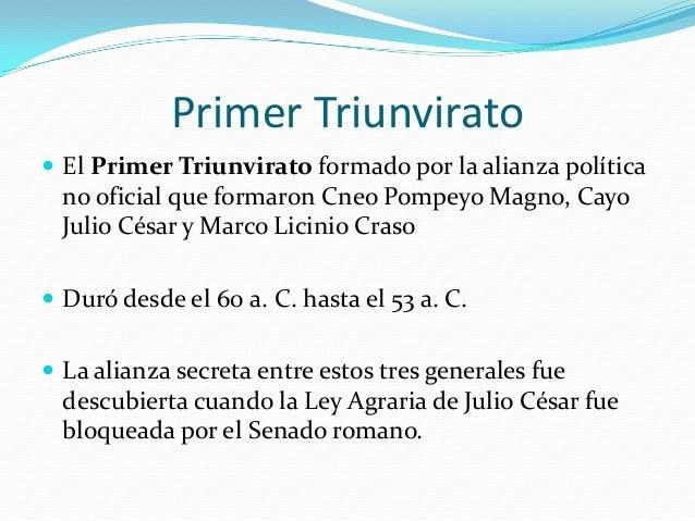 Primer Triunvirato C 233 Sar Pompeyo Y Craso