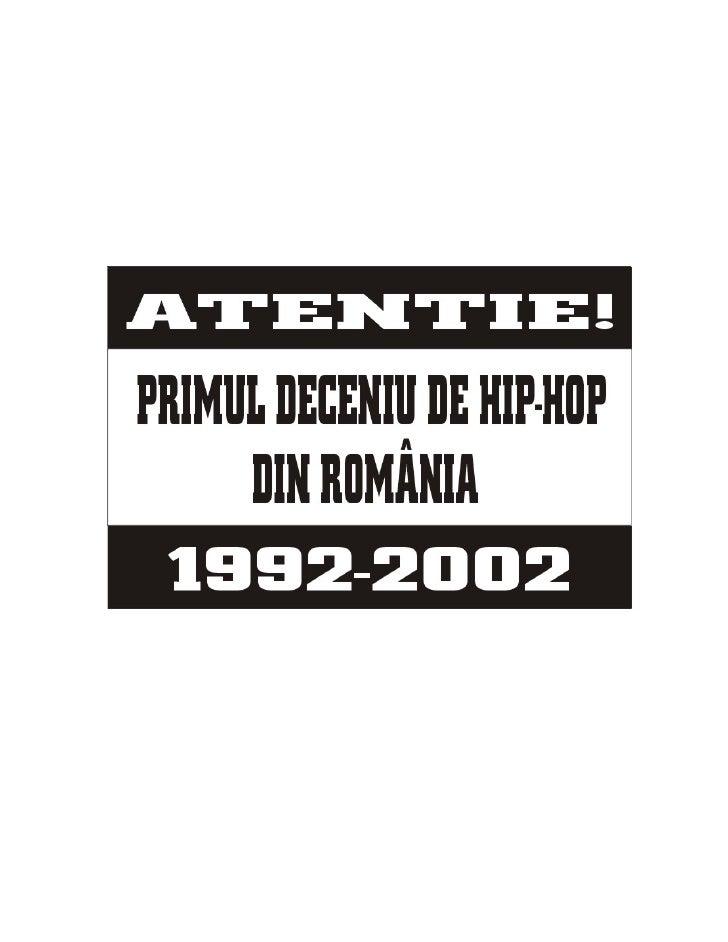 Primii 10 Ani De Hip Hop