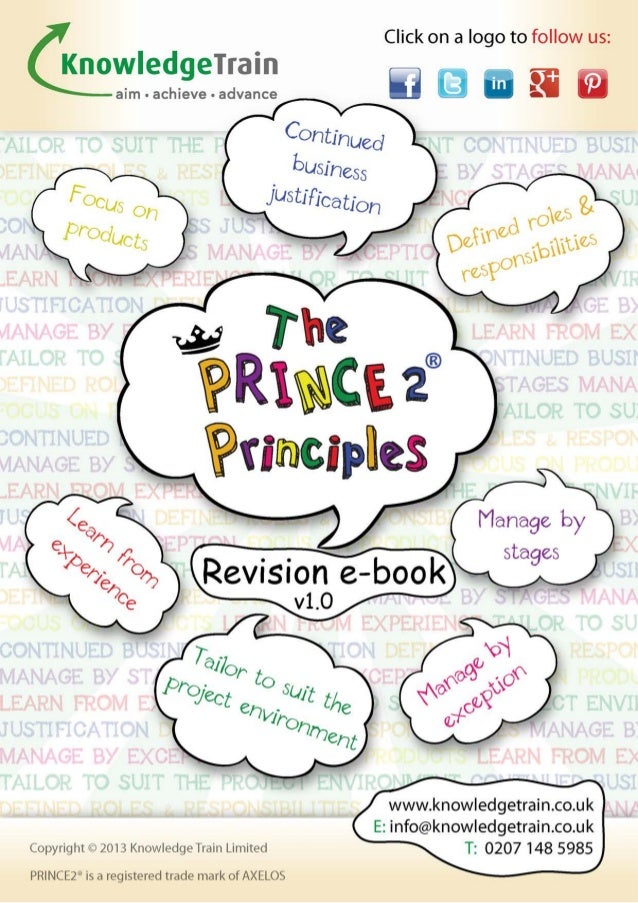 The principles of PRINCE2 The project management framework known as PRINCE2 is based upon a set of principles. These princ...