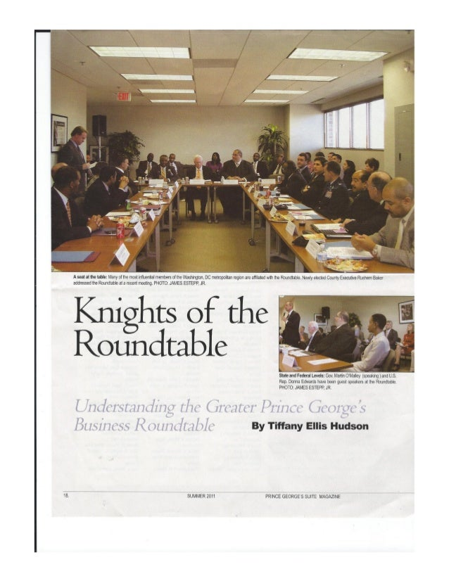 Prince george's suite magazine   knights of the rountable