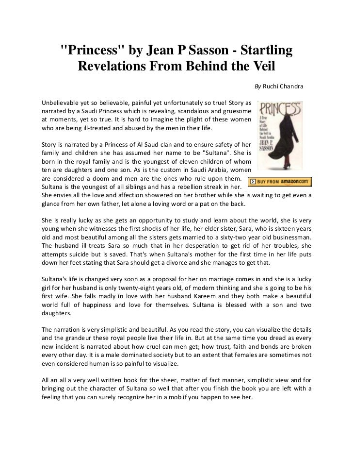 """Princess"" by Jean P Sasson - Startling        Revelations From Behind the Veil                                           ..."
