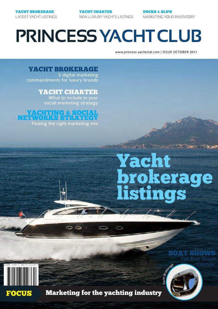 Princess Yacht Club magazine - Yacht Brokerage Yacht Charter - October 2011 issue
