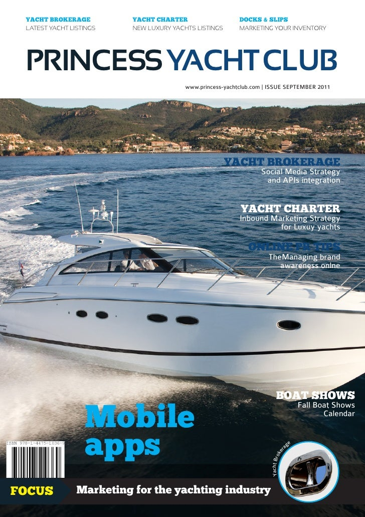 Princess Yacht Club magazine - Yacht Brokerage - September 2011 issue