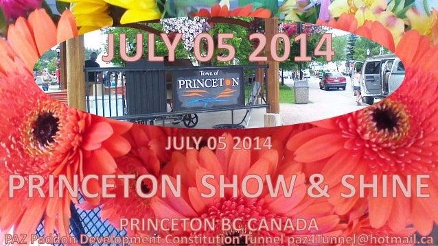 SHOW & SHINE PRINCETON BC CANADA 7 5 14
