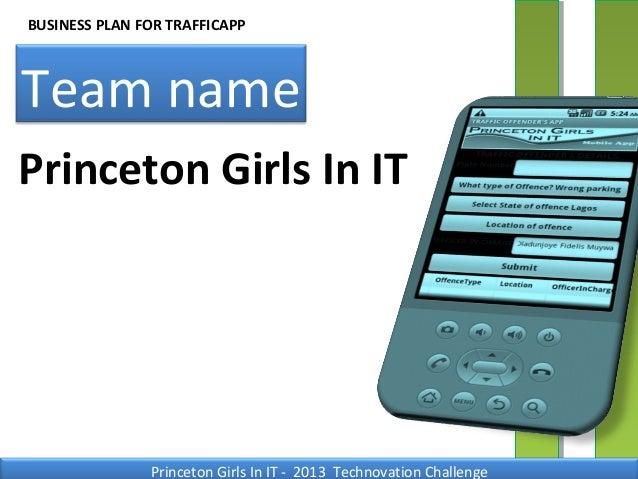 Princeton technovation presentation