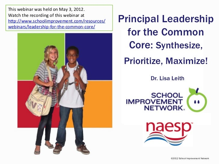 This webinar was held on May 3, 2012.Watch the recording of this webinar athttp://www.schoolimprovement.com/resources/w   ...