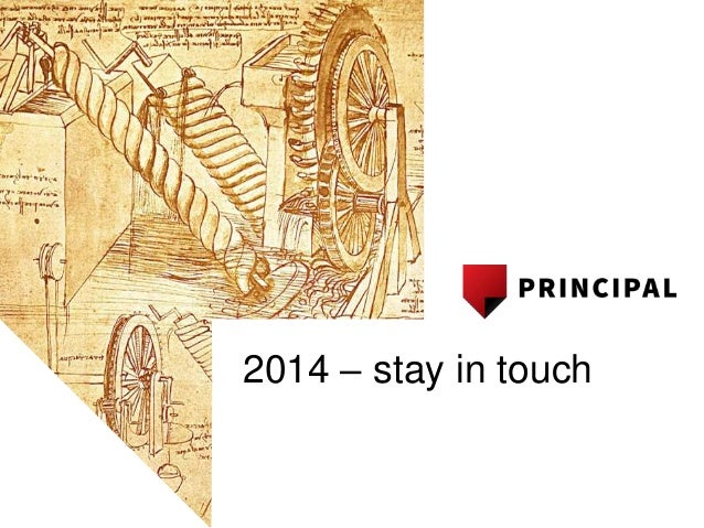 Principal engineering stay in touch