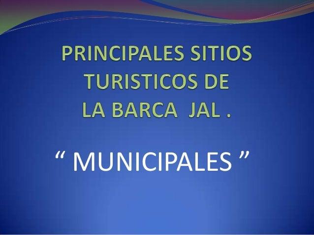 """"""" MUNICIPALES """""""