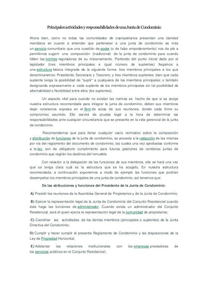 Principales actividades y responsabilidades de una Junta de CondominioAhora bien, como no todas las comunidades de copropi...