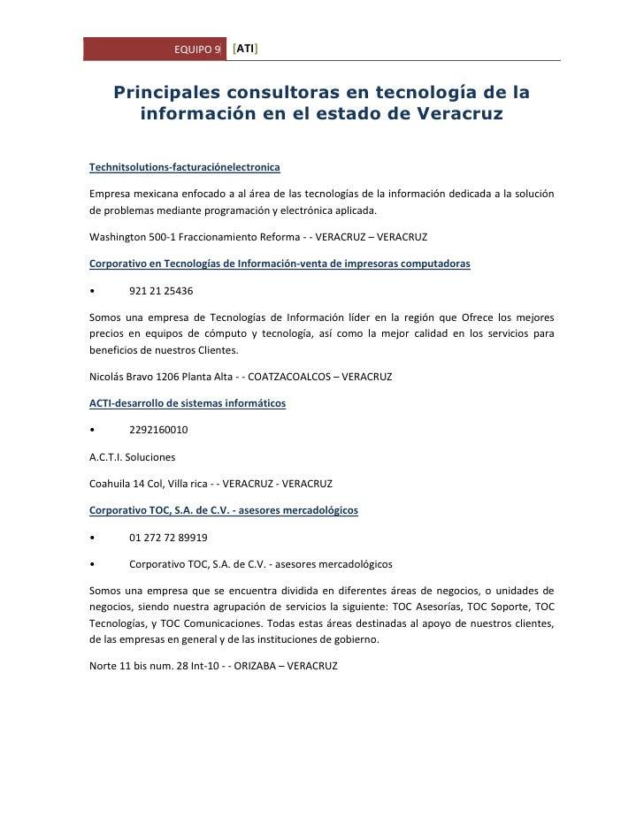 Principales consultoras en tecnología de la información en el estado de Veracruz<br />Technit solutions-facturación electr...