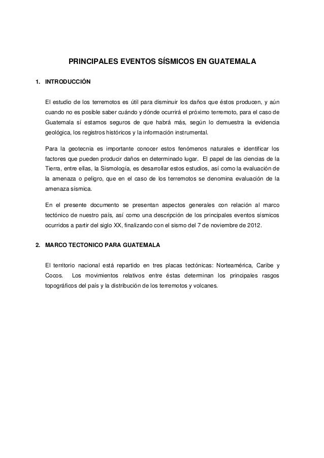 Principales sismos en guatemal ax