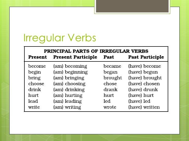 irregular verbs br 6 all irregular verbs br