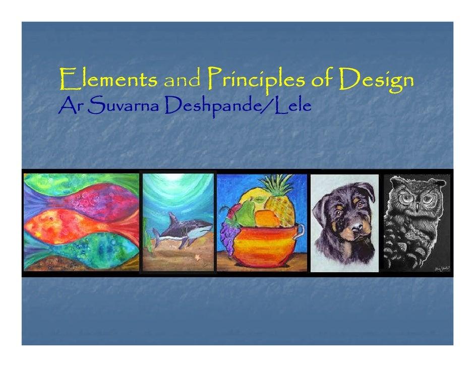 Principals and elements of design.
