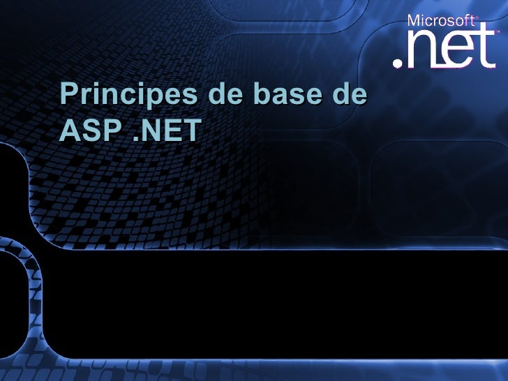Principes De Base De Asp .Net